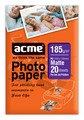Фотопапір ACME 4770070852286 Photo paper 10x15cm 185 g/m2/A6 20 pack Matte
